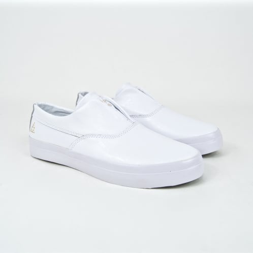 Huf - Dylan Rieder Slip-On Shoes - White Leather