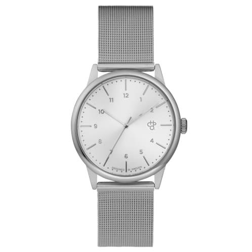 CHPO Rawiya Silver Watch - Silver Dial/Silver Mesh Wristband
