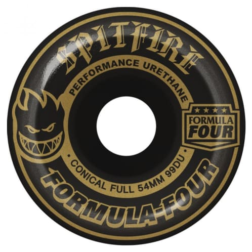 Spitfire Wheels - Formula Four Blackouts Skateboard Wheels Black Conical 99DU | 54mm