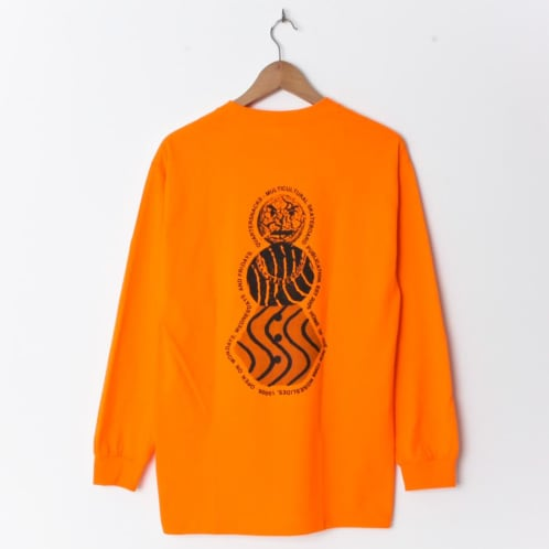 Quartersnacks Flyer Longsleeve Orange (Back Print)
