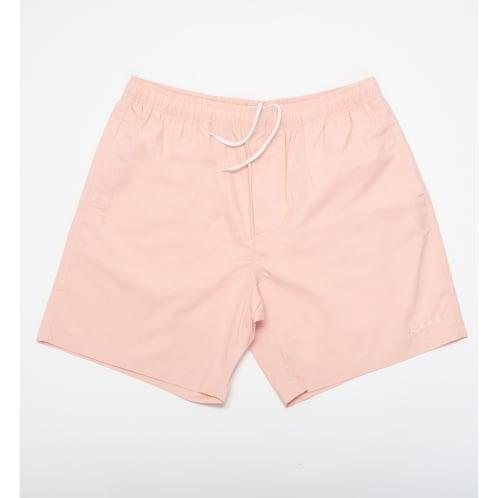 Skateboard Cafe Embroidered Shorts Pink
