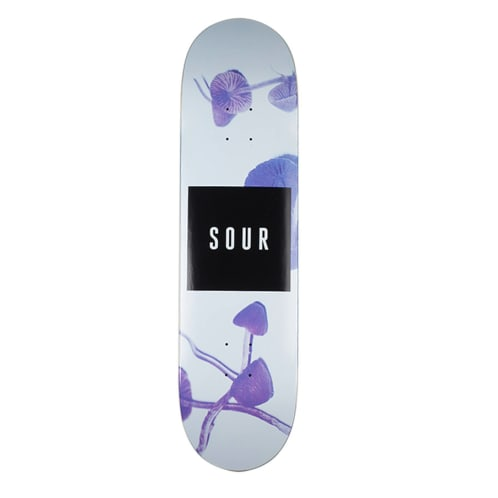 Sour Skateboards - Sour Solution Shrooms Skateboard Deck | 8.25""