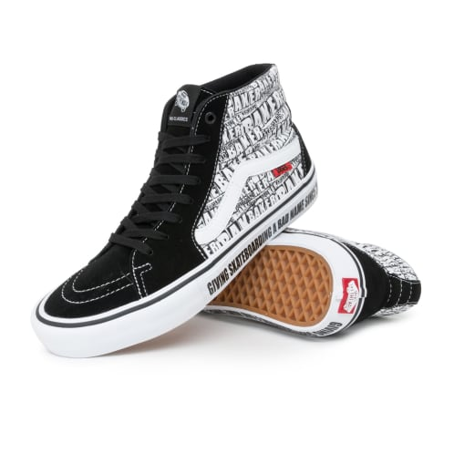 Vans x Baker Sk8-Hi Pro Shoes - Black/White