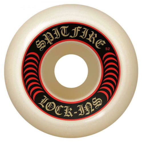 Spitfire Wheels - Spitfire Formula Four Lock Ins Skateboard Wheels 101D Red | 53mm Skate Wheels