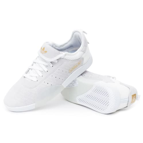 Adidas 3ST.003 Shoes - FTW White/Blue Tint/Gold
