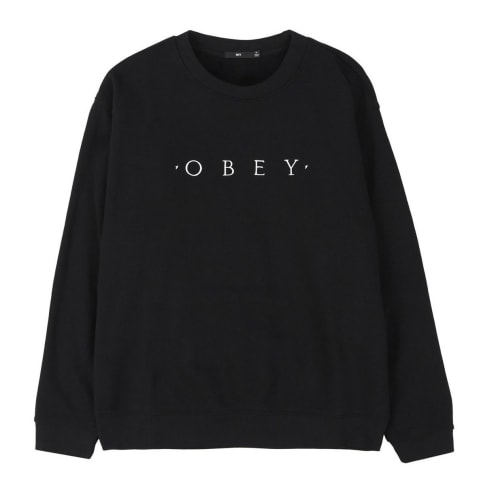 Obey Nouvelle II Crew - Black