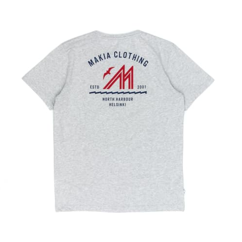 Makia Station T-Shirt - Light Grey