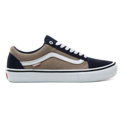 Vans - Old Skool Pro Shoes - (Twill) Dress Blues / Portabella