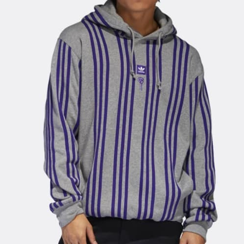 Adidas Skateboarding X Hardies Hardware Sweatshirt - Core Heather/Collegiate Purple