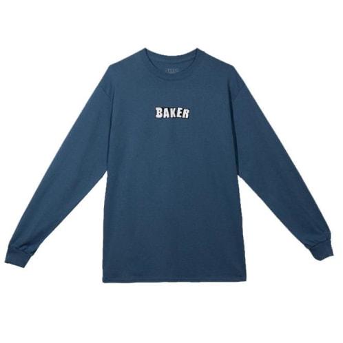 Baker Skateboards Brand Logo Long Sleeve T-Shirt - Slate