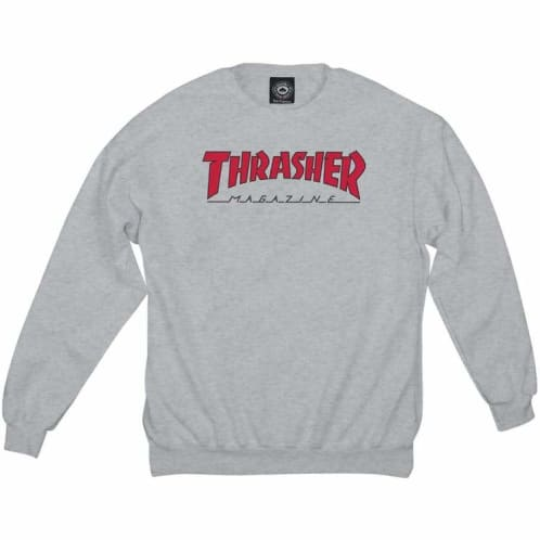 Thrasher Outlined Crewneck Sweat - Ash Grey