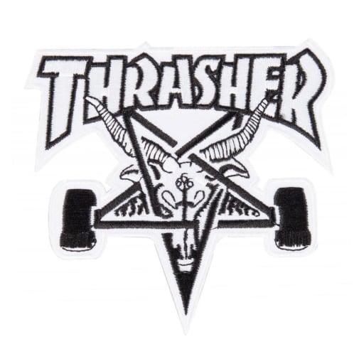 Thrasher Skate Goat Patch - White/Black