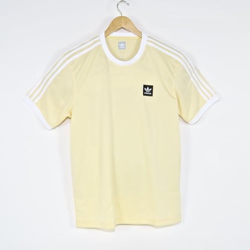 Adidas Skateboarding - Club Jersey T-Shirt - Easy Yellow / White