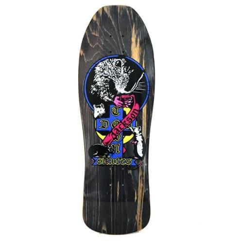 Dogtown Skateboards Tim Jackson 1980 Re-Issue Venice Rat Deck 10.25 - Black Woodstain