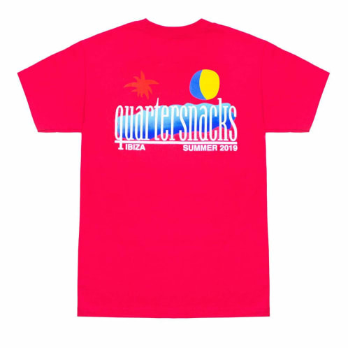 Quartersnacks Summer 2019 T-Shirt Coral