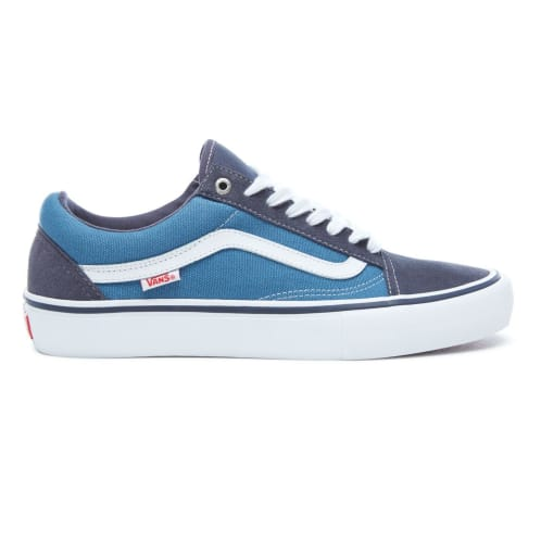 Vans Old Skool Pro Skate Shoes - Navy/White