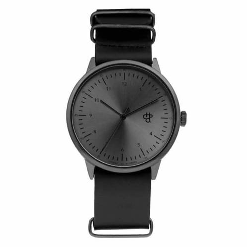 CHPO Harold Metal Watch - Black Dial/Black Metal Strap