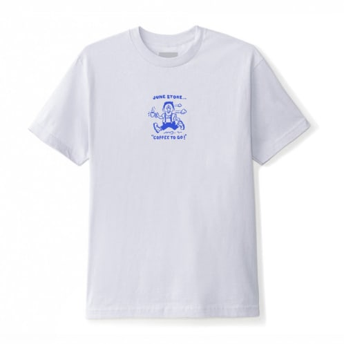 June - Coffee, to go! Mens Tee - Pewter, Blue