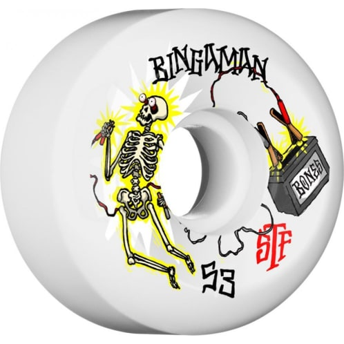 Bones Bingaman Zapped STF Sidecut V5 Wheels - 53mm