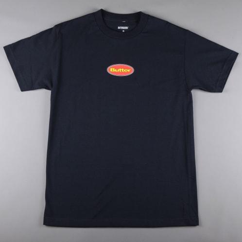 Butter 'Badge' T-Shirt (Harbour Blue)