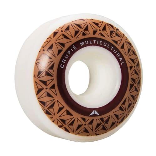 Crupié - Crupie Logo Brown Skateboard Wheels | 52mm