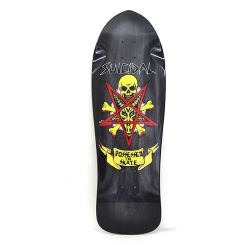 Dogtown Skateboards Suicidal Skates Possessed To Skate Re-Issue Deck 10.125 - Black Fade
