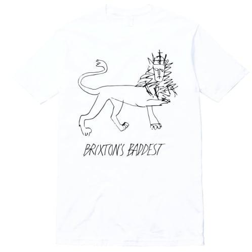 "Brixton's Baddest ""Lion"" tee (white)"