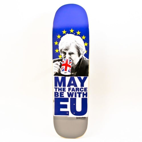 """Lovenskate """"May the farce be with EU"""" Skateboard Deck 8.7"""""""