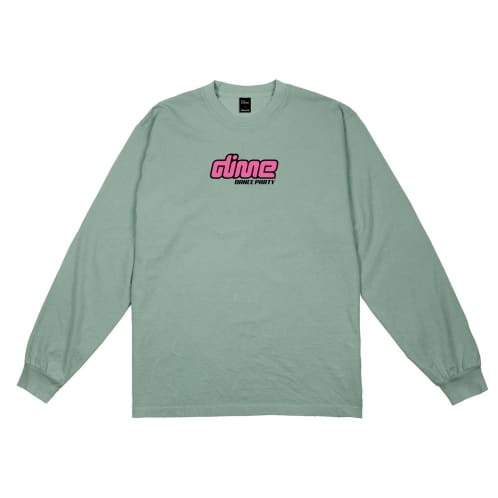 Dime Dance Party Long Sleeve T-Shirt - Washed Green