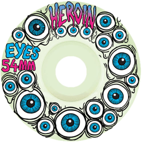 Heroin Skateboards Wheels Eyes - 54mm