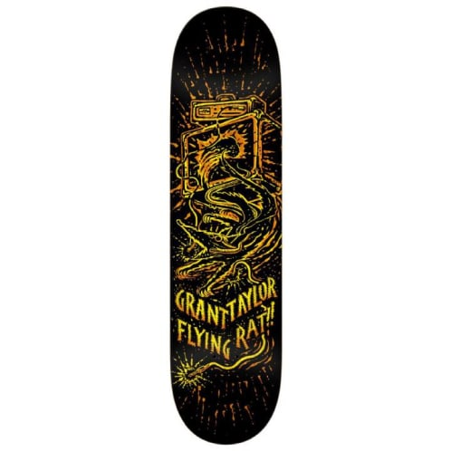 Anti Hero Skateboards Grant Taylor Flying Rat II Deck - 8.5 Black