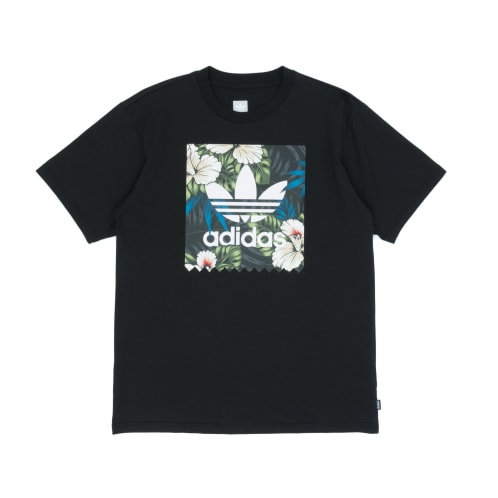 Adidas BB Floral Fill T-Shirt - Black