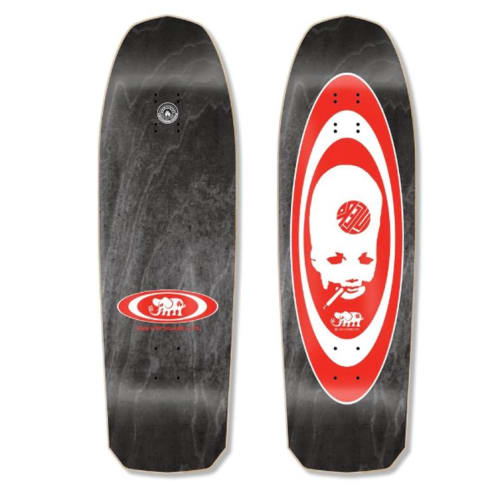 "Black Label John Lucero ""Thumbhead 2"" Re-Issue Skateboard Deck 10.00"" (Black Stain)"