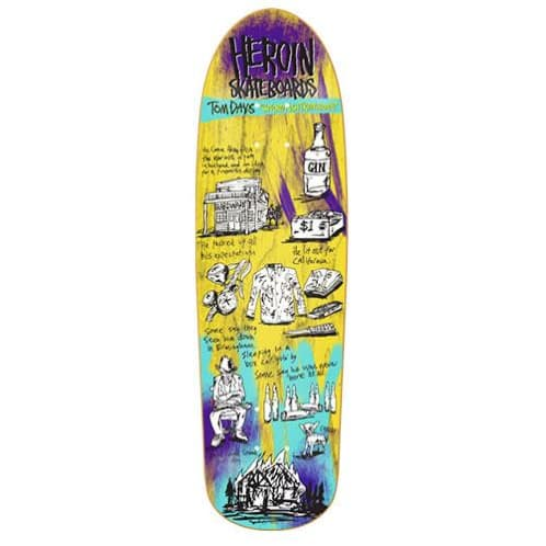 "Heroin Skateboards - 9.38"" Tom Day Swordfish Deck"