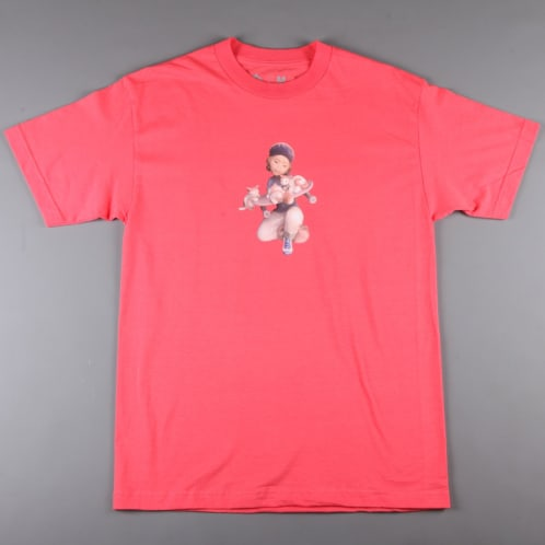 CSC 'Pussy & Skateboarding' T-Shirt (Coral)