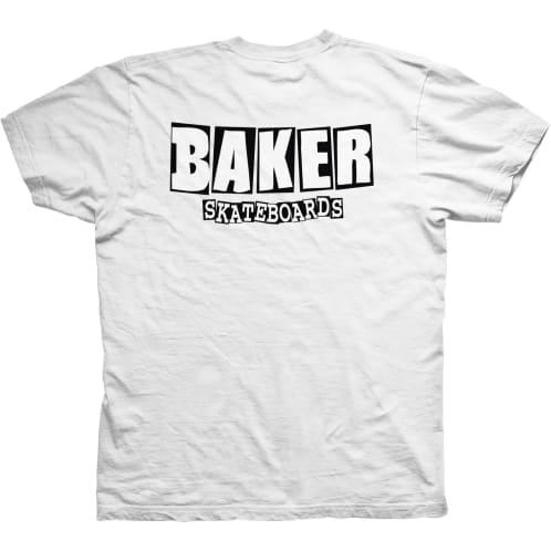 Baker Skateboards Brand Logo Dubs T-Shirt - White/Black
