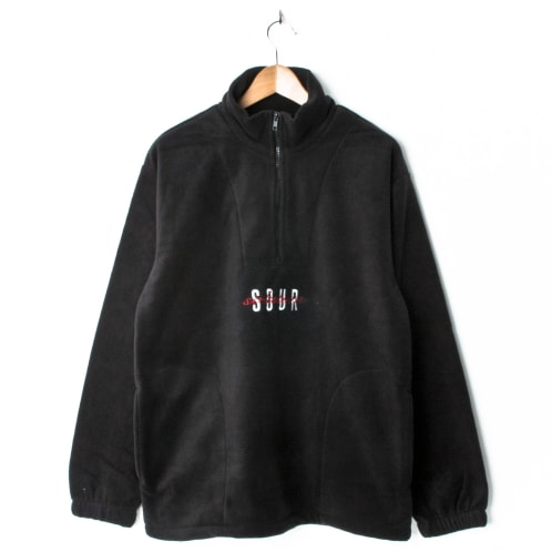 Sour Spothunter Script Quarterzip Fleece Black