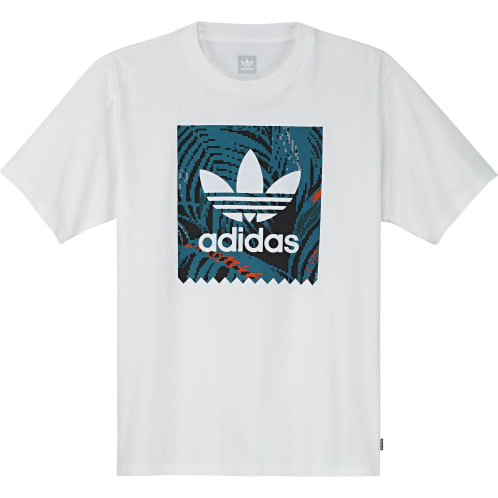 Adidas BB Print Tee 2 - White/active teal/active orange