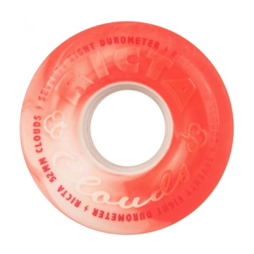 """Ricta """"Clouds"""" Wheels 78A Swirl Red/White 52mm"""