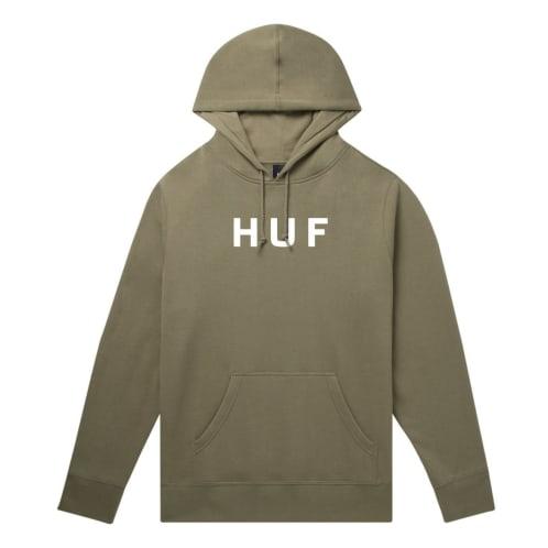 HUF OG Logo Pullover Hoodie - Dried Herb