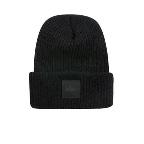 abc Hat Co Cuff Beanie - Black