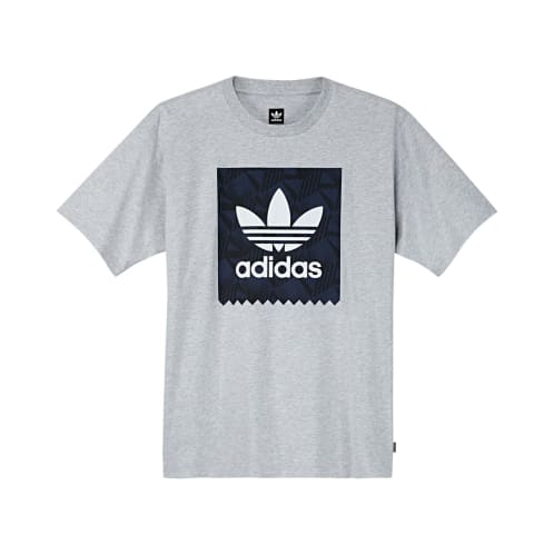 Adidas BB Print 1 T-Shirt - Light Grey Heather/Black/Navy
