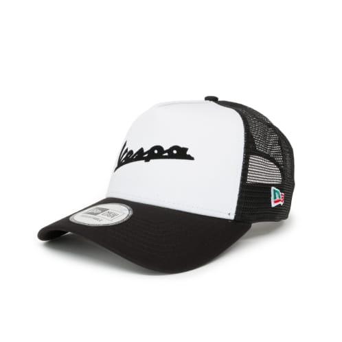 New Era Vespa Wordmark Logo E-Frame Trucker - White/Black