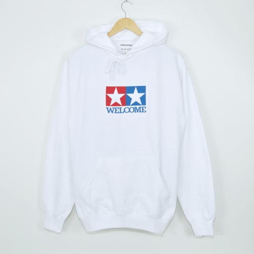 Welcome Skate Store - Racing Pullover Hooded Sweatshirt - White