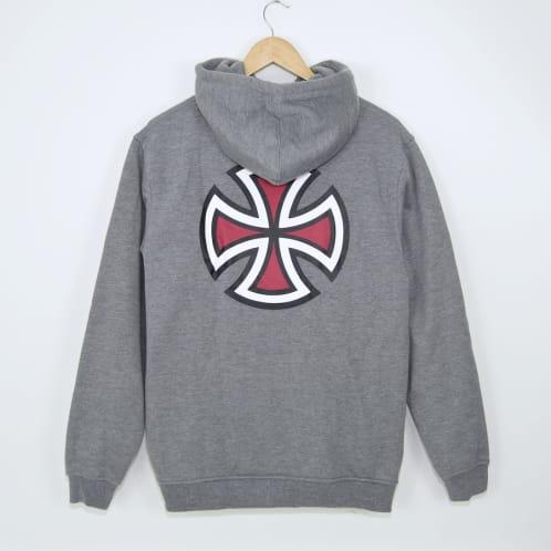 Independent - Bar Cross Pullover Hooded Sweatshirt - Dark Heather
