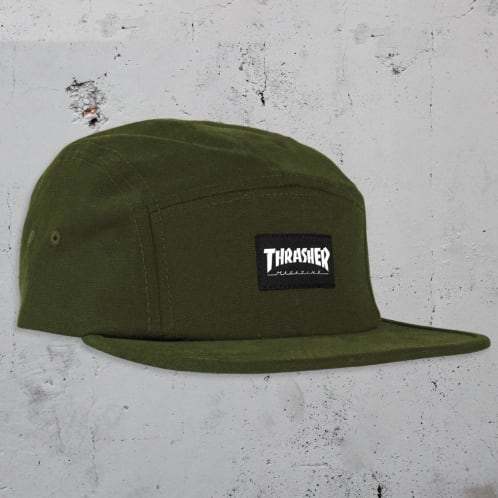 Thrasher 5 Panel Cap - Army