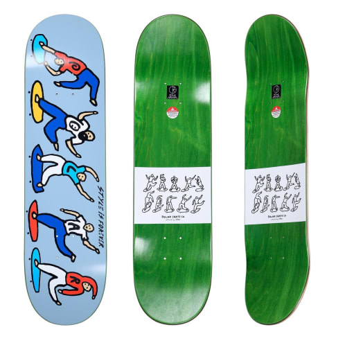 Polar Style Is Forever Skateboard Deck Blue - 8.25""