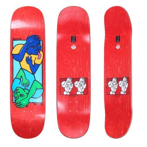"""Polar Skate Co. - 8.5"""" Nick Boserio Double Head Deck - Red"""