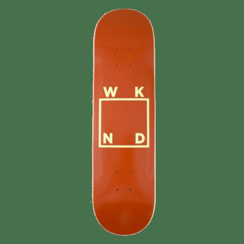 "WKND - Brown + Yellow Logo Skateboard Deck - 7.75""   8.25""   8.5"""