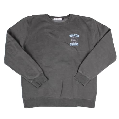 Quartersnacks Ball Is Life Crewneck Sweat Washed Charcoal